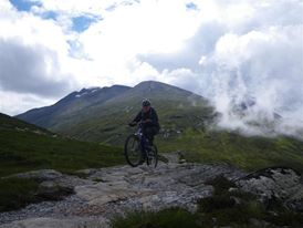 Marie Banks mountain biking Fort William